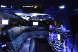 stretch limo hire interior 2
